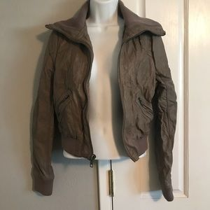 ⭐️MAKE OFFERS! Topshop leather jacket